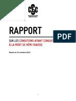 Rapport de la commission d'enquête citoyenne sur Sivens (LDH)