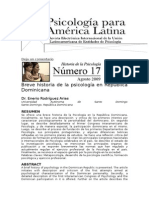 Historia Psicología Rep. Dominicana