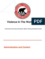 Violence in the Workplace Powerpoint