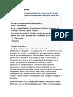 Primer registro etnográfico y acercamiento a la estructura del sistema educativo mexicano