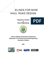 GUIDELINES FOR MINE HAUL ROAD DESIGN