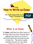 How to Write an Essay-1
