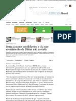 Serra candidato no Estadão Online