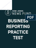 2014 DJNF Business Reporting Test Answer Key