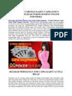 Situs Agen Judi Poker Domino Capsa Susun Online Indonesia