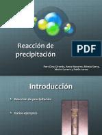 Reacción de Precipitación