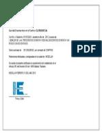 Certificado de Retefuente - C.I Isolux S.A