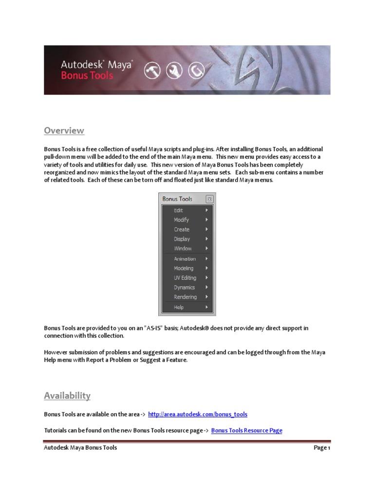 Maya Bonus Tools | Shader | Texture Mapping