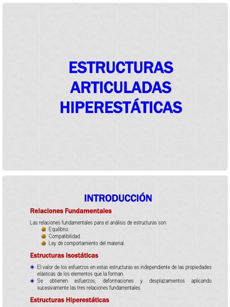 Estructuras Articuladas Hiperestaticas Pdf