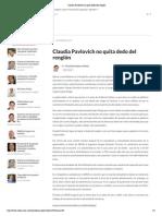 10-10-15 Claudia Pavlovich no quita dedo del renglón - Crítica
