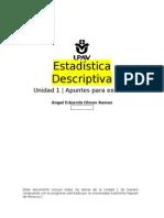 U1 Apuntes Estadística Descriptiva