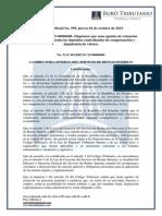 Retencion IRTA Depositos Centralizados y Liquidacion de Valores - RO#599 1 Octubre 2015