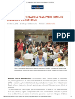 12-10-15 Se compromete Claudia Pavlovich con los jubilados de ISSSTESON - El Observador