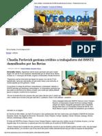 23-10-15 Claudia Pavlovich gestiona créditos a trabajadores del ISSSTE damnificados por las lluvias —ProyeccionCananea