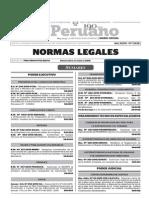 Normas Legales, viernes 23 de octubre del 2015