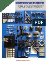 Catalogo de perfiles de aluminio