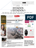 """04-10-15 Azotan remanentes de """"Marty"""" sur de Sonora - Grupo Milenio"""