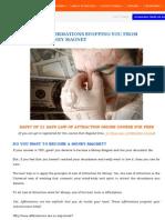 25 Negative Affirmations MONEY