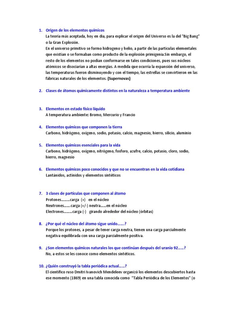Origen de los elementos qumicos urtaz Choice Image