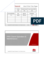 IManager PRS Client Operation and Maintenance