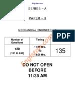 135 Mechanical Engg. Paper-II FCI 17-11-2013 a SERIES Engistan.com