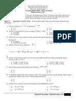 Second Quarter Math 7
