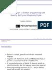 Python Workshop Slides