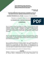 APres. 279-2002, Política Apoyo Al Desarrollo Eólico e ...