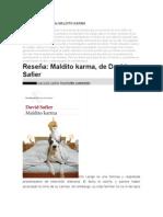 Sinopsis y Resumen de MALDITO KARMA