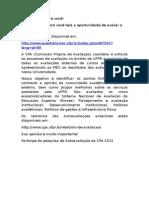 Texto de Divulgação Para Estudantes Da Pesquisa Organizada Pela CPA