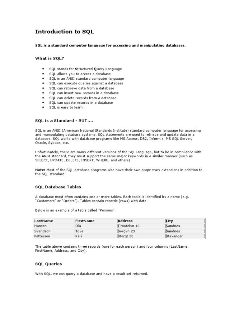 Sql ww3 schools sql database index biocorpaavc