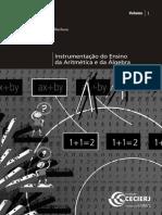 Instrumentação Do Ensino Da Aritmética e Da Álgebra - Vol.1