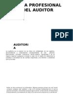 Etica Profesional Del Auditor