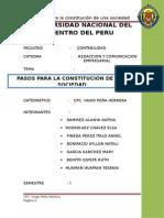 PASOS PARA LA CONSTITUCION DE EMPRESAS