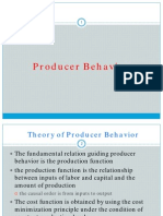 Producer Behavior