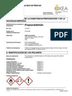 HDS propinoaldehido