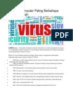 15 Virus Komputer Paling Berbahaya Dalam Sejarah