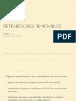 Retenedores Removibles en Ortodoncia