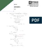 2015 4047_01 Amath Paper 1 Answers