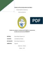 Breve Análisis de La Sentencia Constitucional 0112