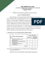 Recruitment 2015-2016 - Details