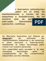 Misión, Vision y Objetivos de MACIMEX