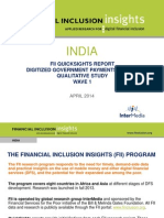 FII India Wave One G2P Study QuickSights Report