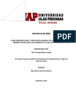 Clima Organizacional y Motivacion Laboral de Los