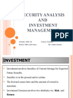 Security Analysis and Investment