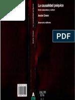 GREEN, André. La causalidad psíquica. Entre naturaleza y cultura