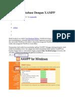 Membuat Database Dengan XAMPP