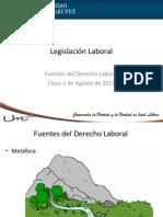 Fuentes Del Derecho Laborasl 01 Agosto 2015