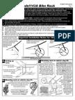 Allen 143a Bike Rack Installation Instructions PDF