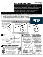 Allen 143a Bike Rack Installation Instructions PDF